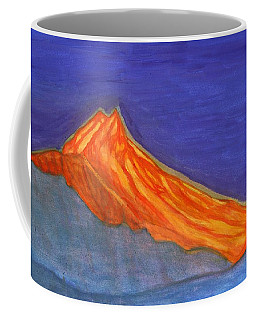 Coffee Mug featuring the painting Sunny Mountain Peak by Dobrotsvet Art