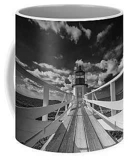 Coffee Mug featuring the photograph Sunny Skies At Marshall Point In Black And White by Rick Berk
