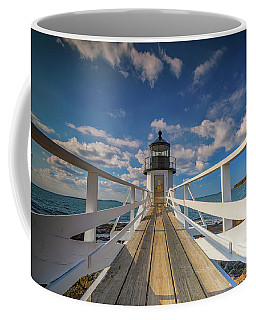 Coffee Mug featuring the photograph Sunny Skies At Marshall Point by Rick Berk