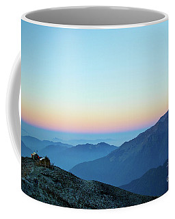 Sunrise Above Mountain In Valley Himalayas Mountains Mardi Himal Coffee Mug