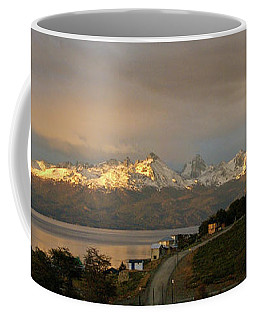 Coffee Mug featuring the photograph Sunrise Across Beagle Channel, Patagonia by Mark Duehmig