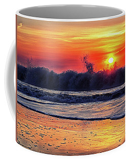Coffee Mug featuring the photograph Sunrise At 142nd Street Beach Ocean City by Bill Swartwout Fine Art Photography