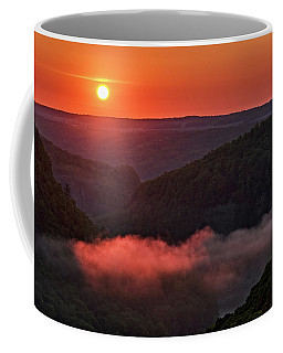 Sunrise At Letchworth State Park In New York Coffee Mug