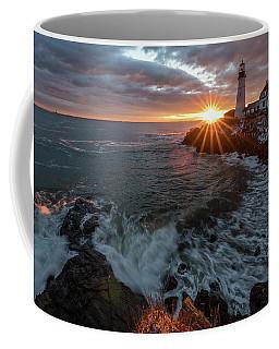 Sunrise At Portland Head Light Coffee Mug
