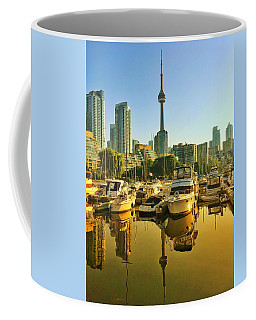 Sunrise At The Harbour Coffee Mug