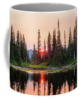 Sunrise From The Reflection Lake Coffee Mug