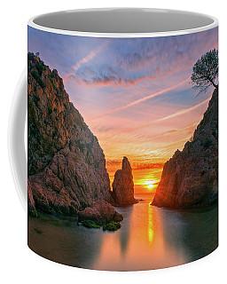 Sunrise In The Village Of Tossa De Mar, Costa Brava Coffee Mug