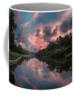 Sunrise On The River Coffee Mug