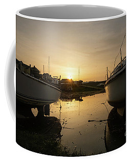 Sunrise Over Aberystwyht Harbour Coffee Mug