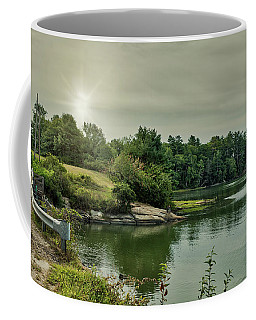 Coffee Mug featuring the photograph Sunrise Over Casco Bay by Guy Whiteley
