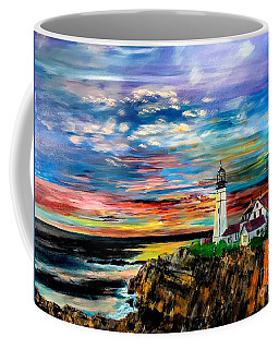 Sunrise Over Portland Head Coffee Mug