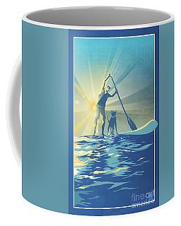 Sunrise Paddle Boarder Coffee Mug
