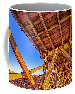 Sunrise Under The Sea Cabin Pier  Coffee Mug