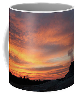 Sunset 0ver White Dome Geyser Coffee Mug