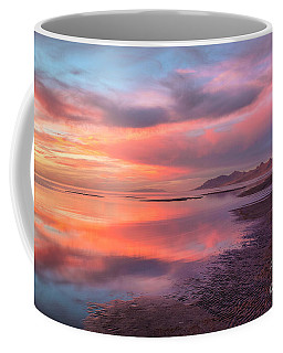 Coffee Mug featuring the photograph Sunset And Antelope Island by Spencer Baugh