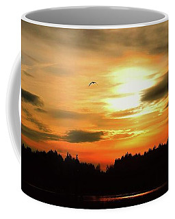 Coffee Mug featuring the photograph Sunset And Silhouette by Patricia Strand
