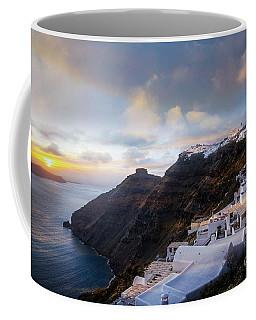 Sunset At Firostefani Coffee Mug