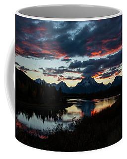Sunset At Oxbow Bend Coffee Mug
