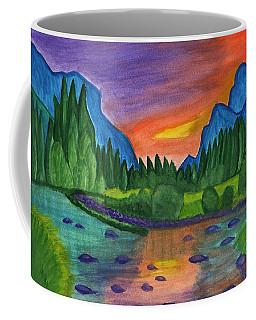 Sunset By The River Coffee Mug