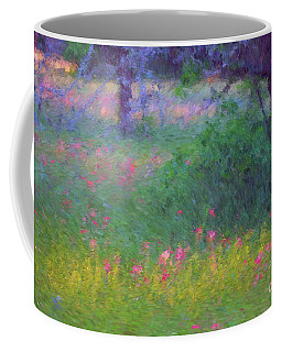 Sunset In Flower Meadow Coffee Mug
