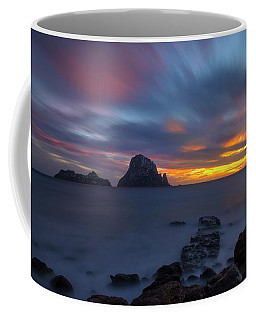 Sunset In The Mediterranean Sea With The Island Of Es Vedra Coffee Mug
