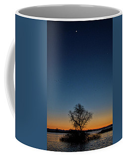 Sunset In The Refuge With Moon Coffee Mug
