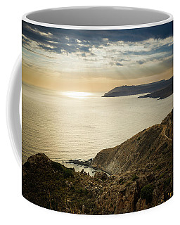 Sunset Near Tainaron Cape Coffee Mug