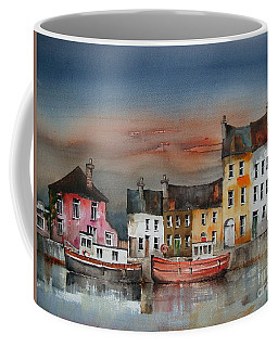 Coffee Mug featuring the painting Sunset On  Cloondra, Co. Longford by Val Byrne