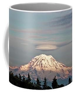 Sunset On Mount Rainier Coffee Mug