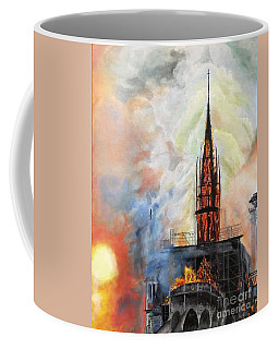 Sunset On Notre Dame Coffee Mug