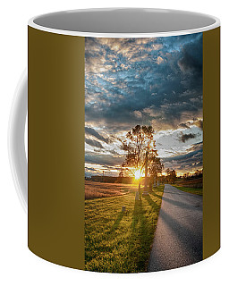 Sunset On The Field Coffee Mug