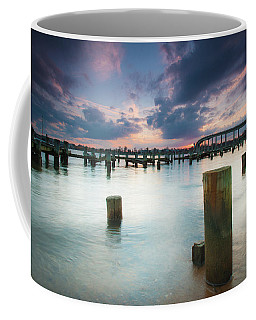 Coffee Mug featuring the photograph Sunset On The Severn River by Mark Duehmig