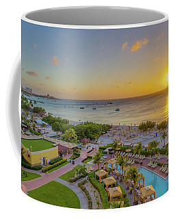 Coffee Mug featuring the photograph Sunset Over Aruba by Scott McGuire