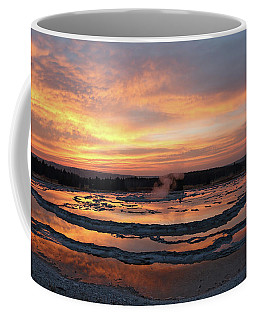 Sunset Over Great Fountain Geyser Coffee Mug