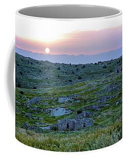 Sunset Over Um A-shekef, Israel Coffee Mug