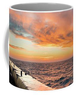 Sunset Panorama In Frankfort Coffee Mug