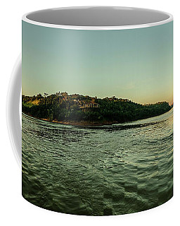 Sunset River Confluence Coffee Mug
