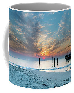 Sunset Seascape And Beautiful Clouds Coffee Mug