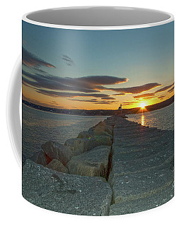 Sunset Seawall Coffee Mug