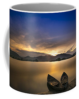 Sunset On The Lake Coffee Mug