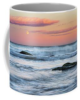 Super Moon And Sunset At Sozopol Town Beach Coffee Mug