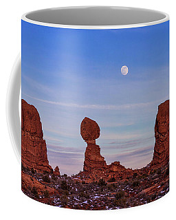 Super Moonrise At Balanced Rock Coffee Mug