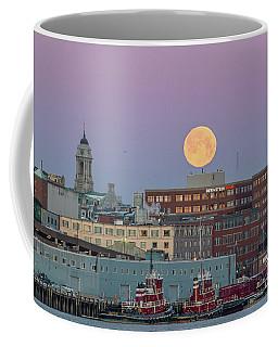 Super Snow Moon Over Portland Coffee Mug