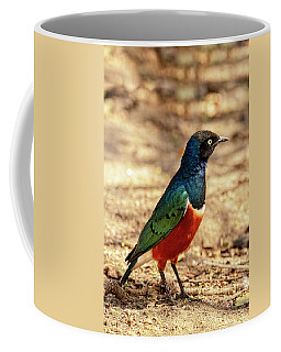Coffee Mug featuring the photograph Superb Starling by Kay Brewer