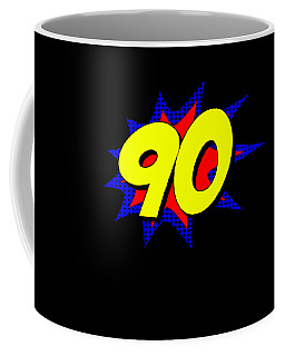 Superhero 90 Years Old Birthday Coffee Mug