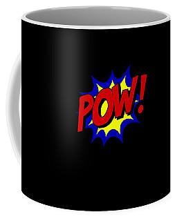 Coffee Mug featuring the digital art Superhero Pow by Flippin Sweet Gear