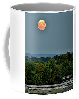 Supermoon On The Mississippi Coffee Mug