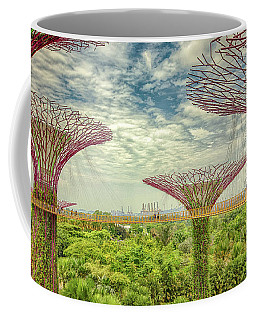 Coffee Mug featuring the photograph Supertree Grove by Chris Cousins