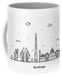 Surabaya Cityscape Travel Poster Coffee Mug