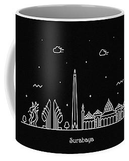 Surabaya Skyline Travel Poster Coffee Mug